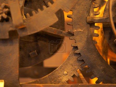 Photo pour Grunge engrenage, fond de roues dentées. Concept d'industrie, science, horlogerie, technologie - image libre de droit