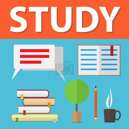 Photo for Flat design vector illustration concepts of education - Royalty Free Image