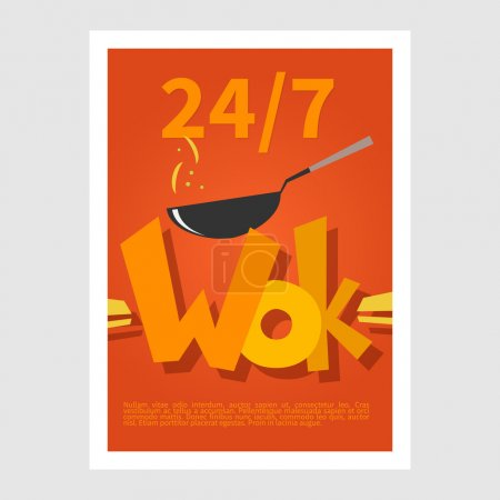 Wok poster Template poster of