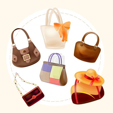 Illustration for Set of handbags for all occasions - Royalty Free Image