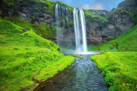Beautiful Seljalandsfoss waterfall