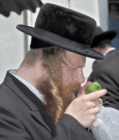 Religious Jew with  long sidelocks