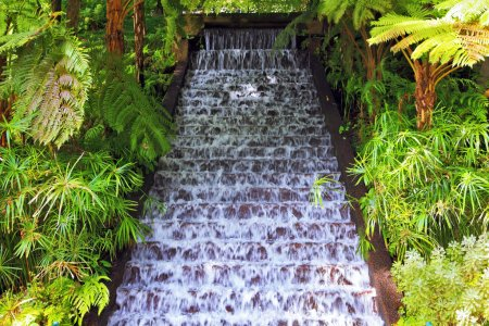 Picturesque cascading waterfall