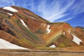 Rhyolite mountains in Icelandic reserve