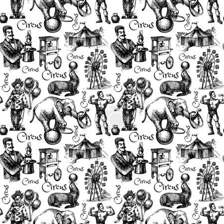 circus and amusement seamless pattern