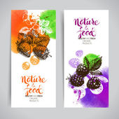 Eco food banners set
