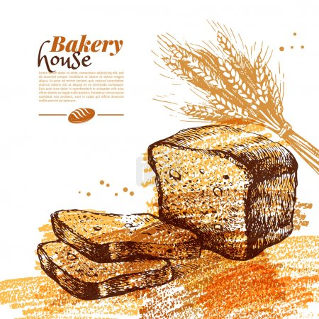 Bakery sketch background.
