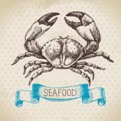 Hand drawn sketch seafood