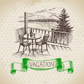 sketch family vacation background