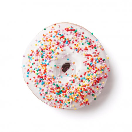 Donut with colorful decor