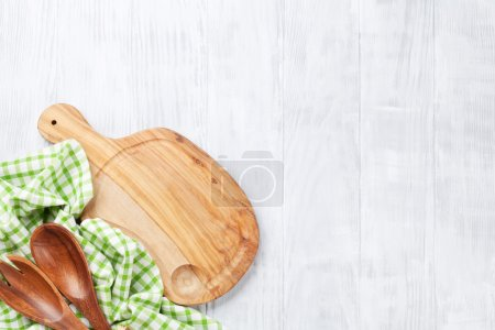 Cooking utensils on table