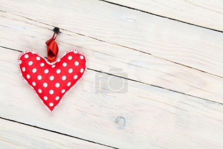 Valentines day background with toy heart