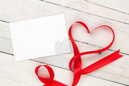 Greeting card and valentines heart