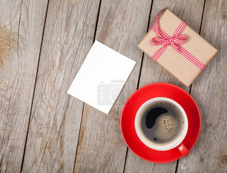 Coffee cup and gift box