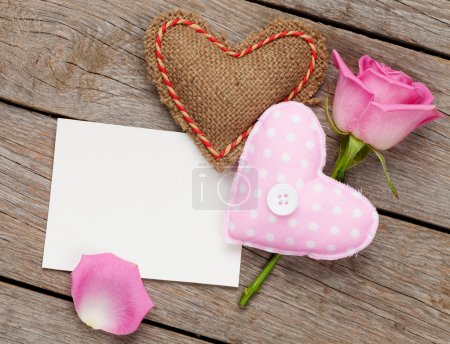 Valentines day blank greeting card
