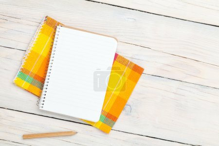 Notepad over kitchen towel