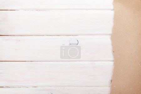 Cardboard paper  on wood background