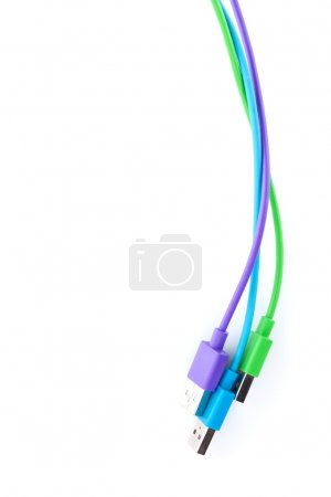 Colorful computer cables