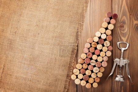 Bouchons de bouteille de vin et tire-bouchon