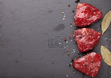 fillet beef steaks and spices