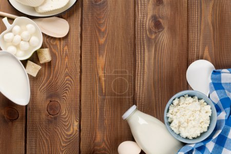 Milk, cheese, eggs, yogurt and butter