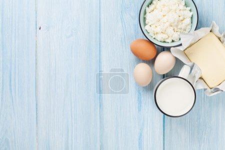 Milk, cheese, eggs, curd cheese