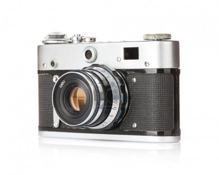 Photo for Vintage film camera. Isolated on white background - Royalty Free Image