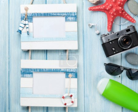 Travel and vacation photo frames