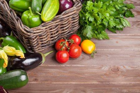 Fresh farmers garden vegetables and herbs