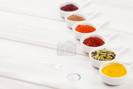 Various spices set