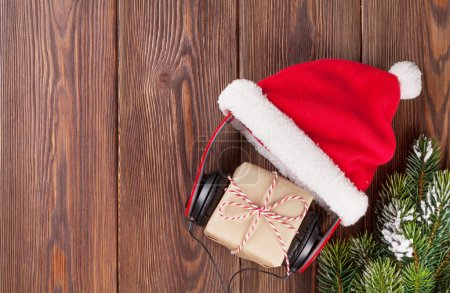 Christmas gift box with headphones