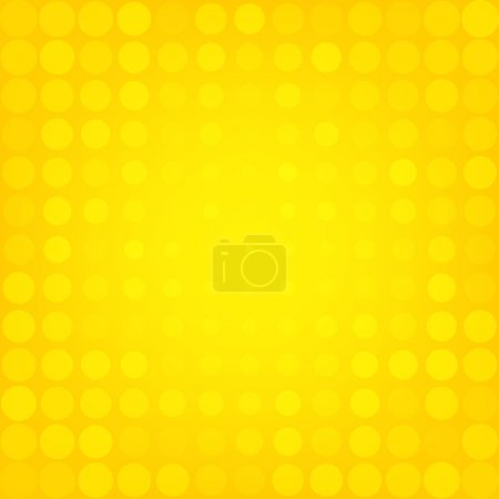 Illustration for Abstract dotted yellow background texture - Royalty Free Image