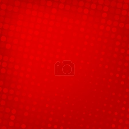Illustration for Abstract dotted red background texture - Royalty Free Image