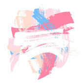 Colorful vector paint brush strokes background