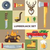 The lumberjack icon set