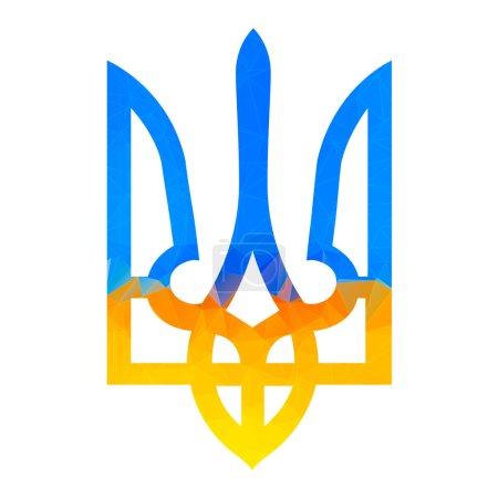 Ukranian trident traditional illustration