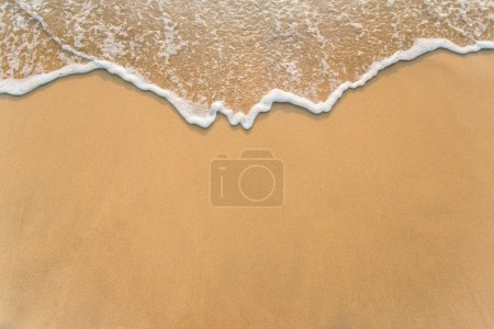 Wave on the sand beach background...