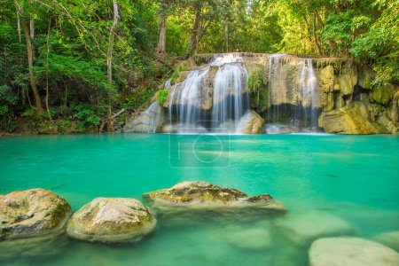 Beautiful Erawan Waterfall