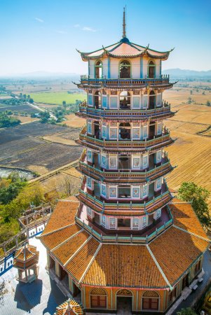 View of tall Chinese Pagoda