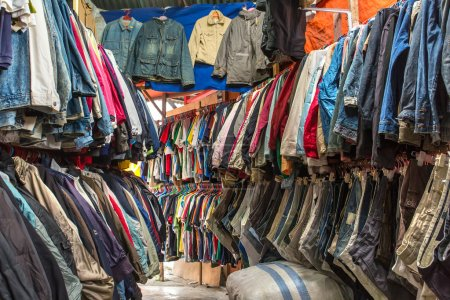 Clothes in a second hand