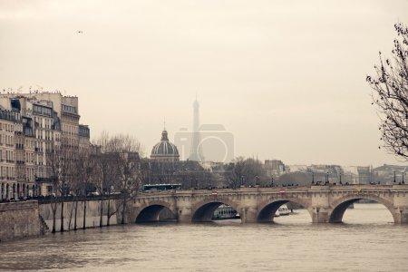 Eiffel Tower and Concorde Bridge