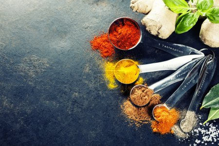 Photo for Herbs and spices selection, close up - Royalty Free Image