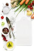 Постер свежие овощи и специи