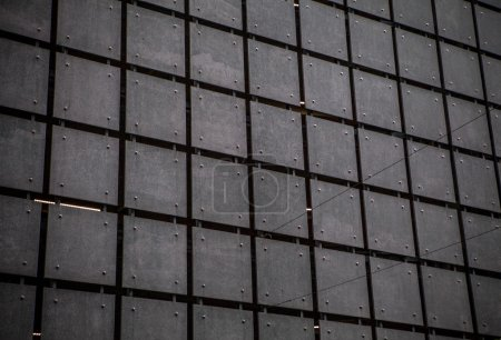 Metal wall as background.