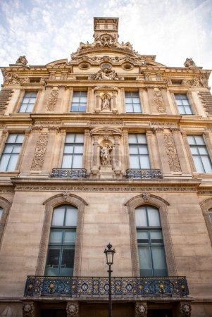 Facade of traditional building in Paris