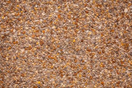 Photo pour Détail de la texture de surface avec des petits cailloux sur sol sale . - image libre de droit