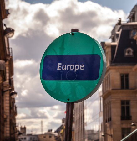 "Road sign ""Europe"""