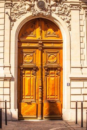 Old wooden door in Paris