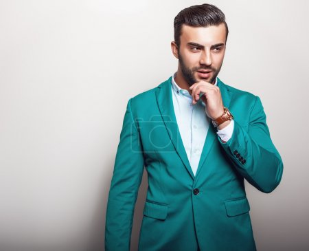 Elegant handsome man in stylish jacket