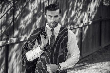 Young beautiful fashionable man